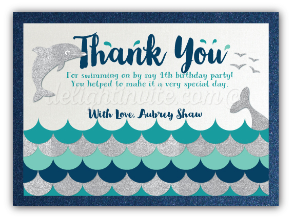 Swim party dolphin theme thank you cards di 626ty ministry swim party dolphin theme thank you cards filmwisefo