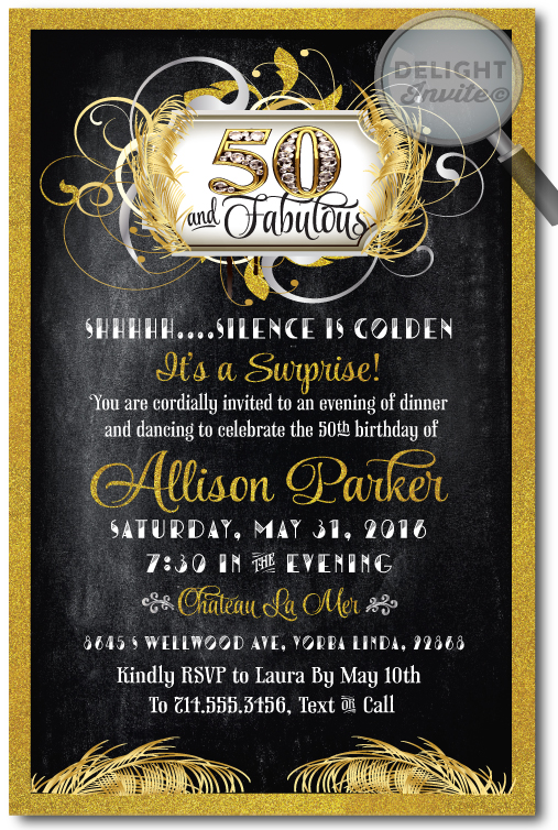 Fifty and fabulous 50th birthday invitations di 457 ministry fifty and fabulous 50th birthday invitations filmwisefo