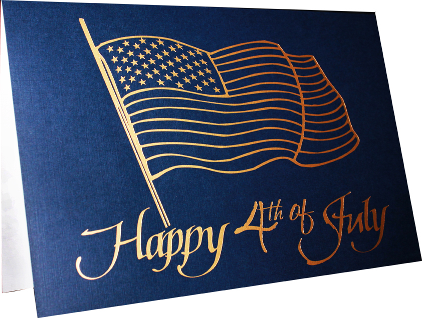 Fourth of July Foil Stamped Greeting Card