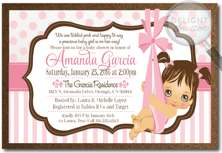 Pink girl baby shower invitations di 4504 ministry greetings pink girl baby shower invitations filmwisefo