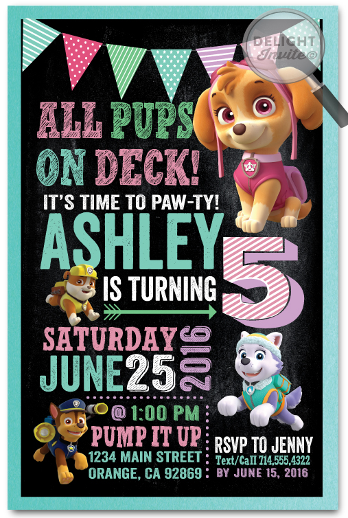 Chase paw patrol birthday invitations di 348 ministry greetings christian cards church for Paw patrol birthday invites