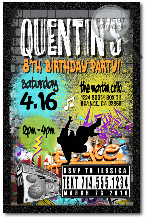 80 s 90 s hip hop graffiti birthday favor tag di 464ft ministry