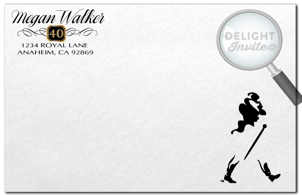 Johnnie Walker Over The Hill 40th Birthday Envelopes Di 552env