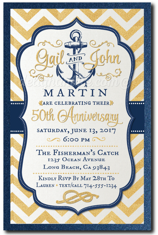 Nautical 50th anniversary party invitations di 474 ministry nautical 50th anniversary party invitations stopboris Images