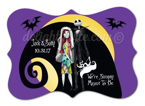 Nightmare Before Christmas Wedding Favor Tags Di 5051ft2
