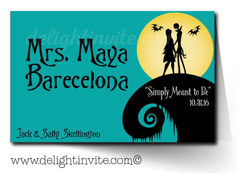 Nightmare Before Christmas Wedding Tent Cards [DI-5050TC] : Ministry ...