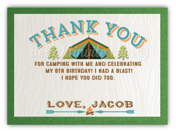 Outdoors Camping Thank You Cards Di 387ty Ministry Greetings
