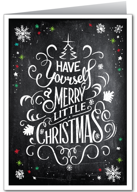 Vintage Chalkboard Holiday Greeting Card