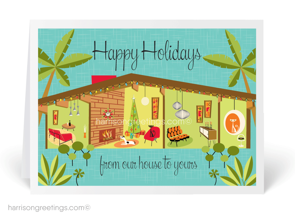 Mid century modern house holiday card 15242 ministry greetings mid century modern house holiday card m4hsunfo