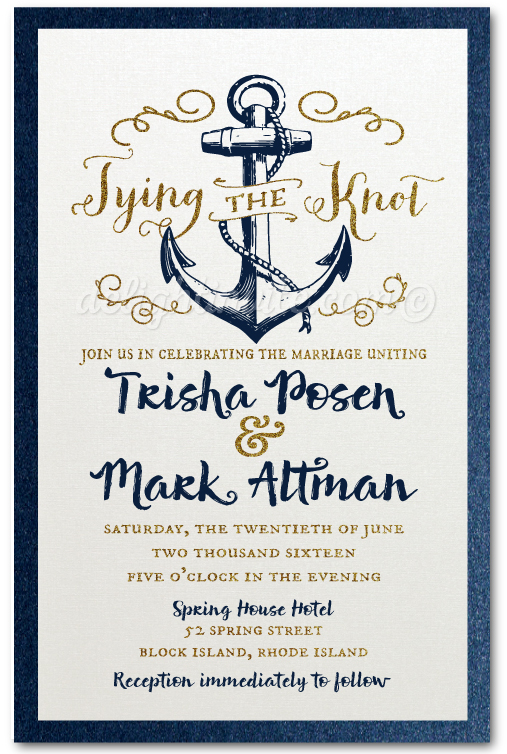 Rustic Anchor Tie The Knot Wedding Invitation Di 5004 Ministry