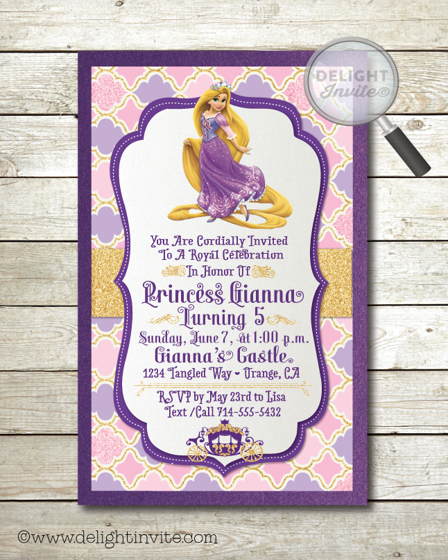 Rapunzel Tangled Birthday Invitations Di 672 Ministry Greetings