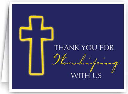 Thank you for worshipping ministry greetings christian cards thank you for worshiping with us m4hsunfo