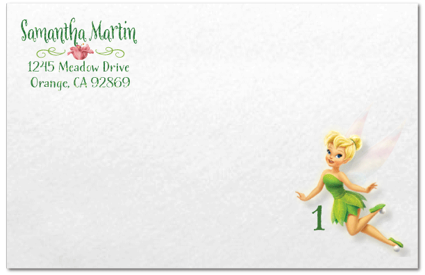 Tinkerbell Invitation Envelope DI 283ENV Ministry Greetings