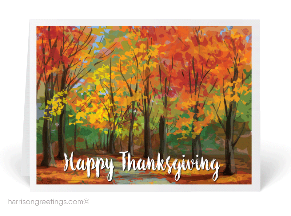 Traditional Watercolor Thanksgiving Greeting Cards