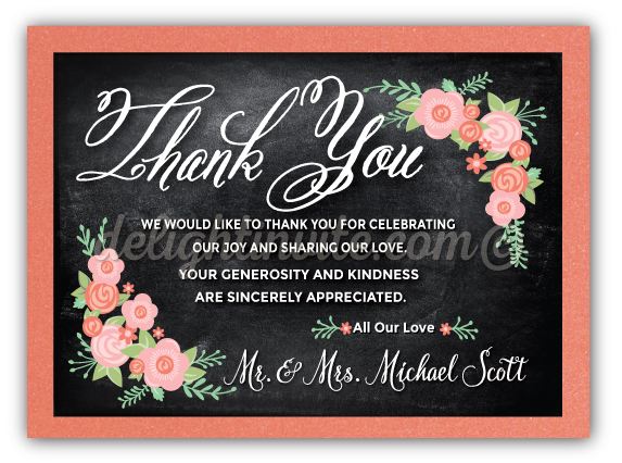 Vintage chalkboard wedding thank you cards di 5002ty ministry vintage chalkboard wedding thank you cards expocarfo Image collections