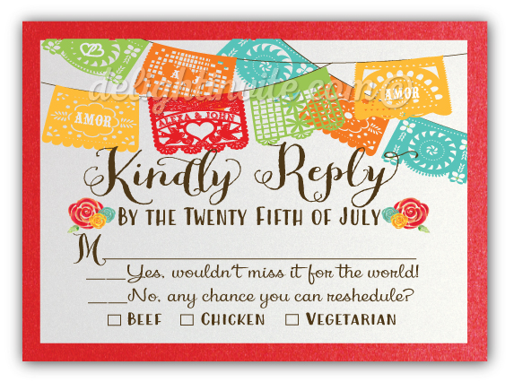 Mexican fiesta wedding invitations response cards di 5018rsvp mexican fiesta wedding invitations response cards m4hsunfo