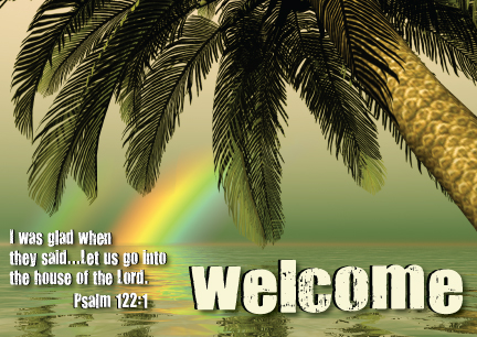 Tropical Welcome Pew Card