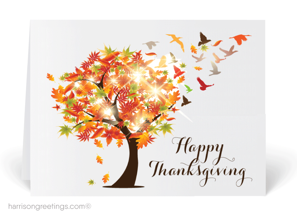 Autumn Blessings Thanksgiving Card