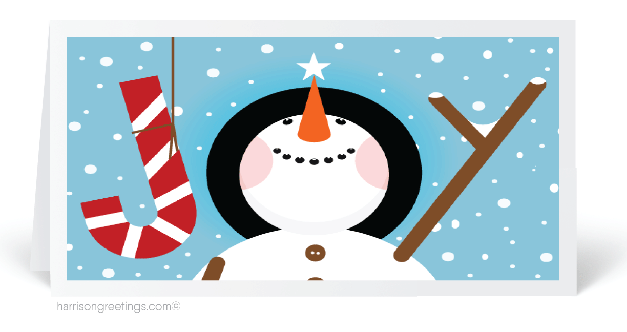 Snowman Cartoon Christmas Holiday Cards 6120 Ministry Greetings