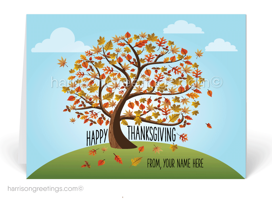 Whimsical Thanksgiving Greeting Cards - Click Image to Close