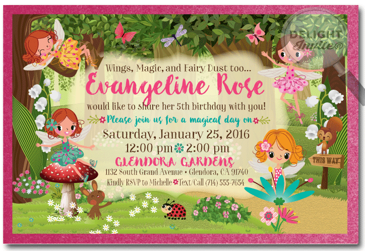 Woodland forest fairy birthday invitations di 659 ministry woodland forest fairy birthday invitations bookmarktalkfo Image collections