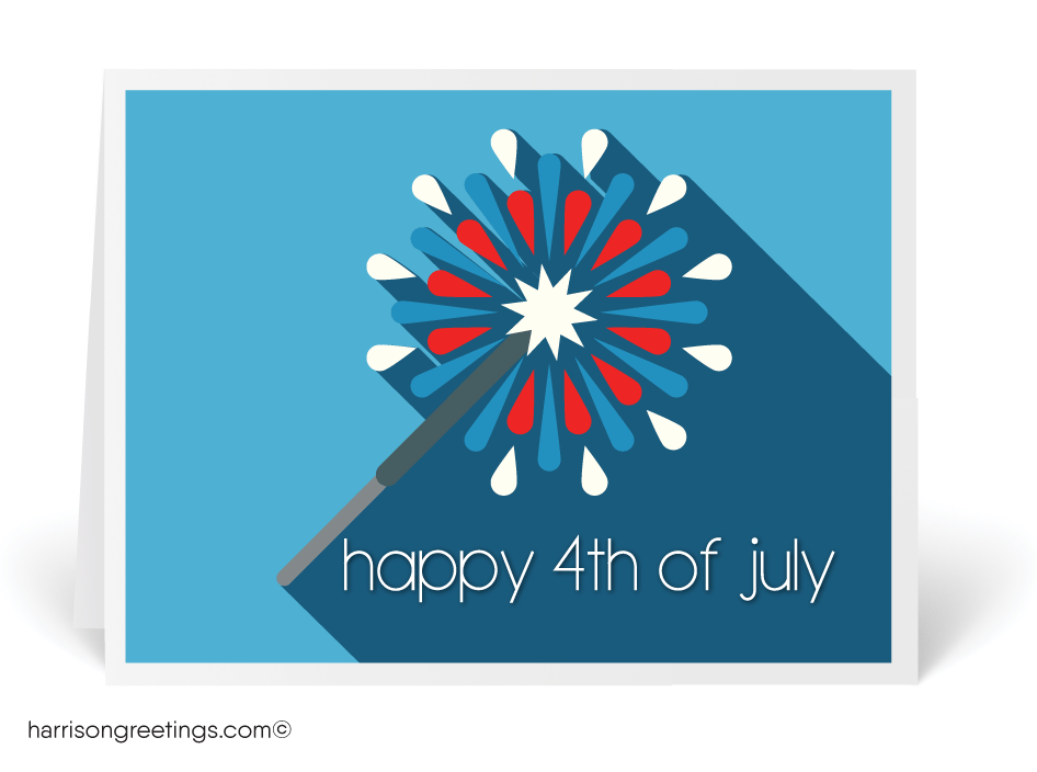 Retro Modern Happy 4th of July Cards