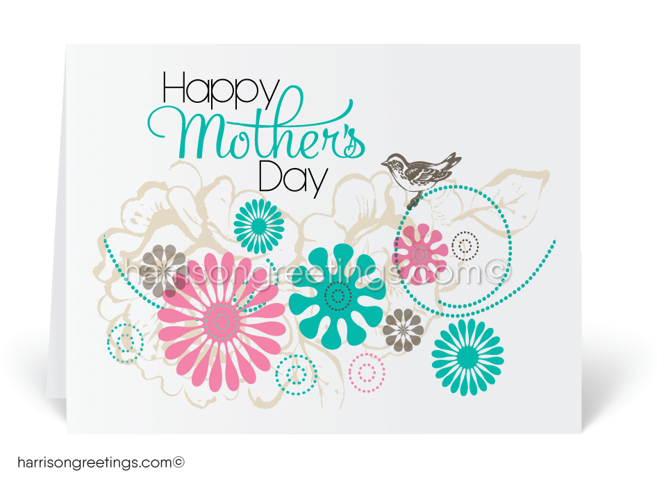 Retro Modern Mother's Day Cards