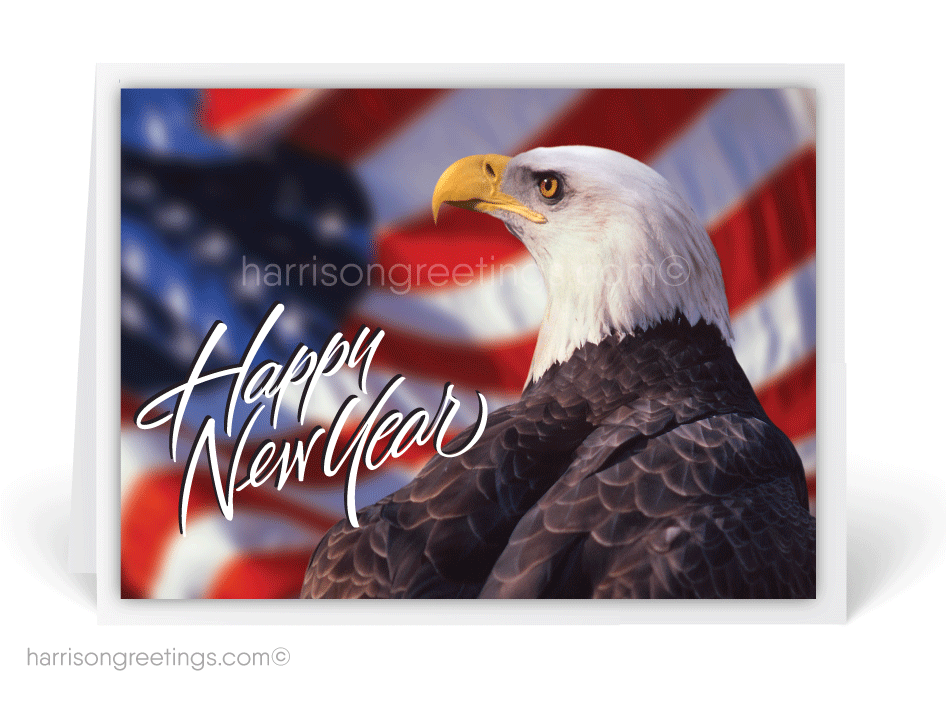 Patriotic Happy New Year Cards