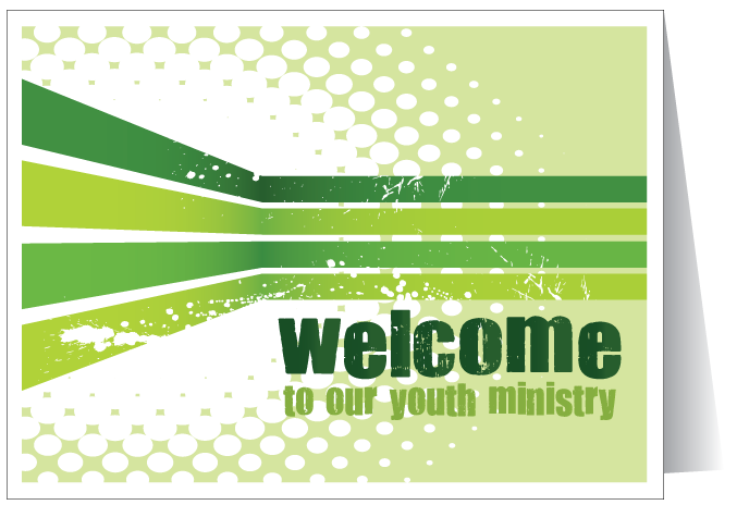 Welcome To Our Youth Ministry Card
