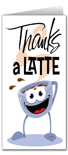 Coffee Cup Thank You Card