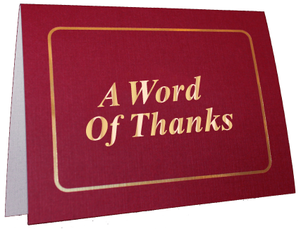 Word of Thanks Greeting Card