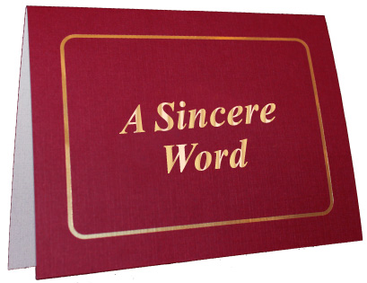 A Sincere Word Foil Note Card