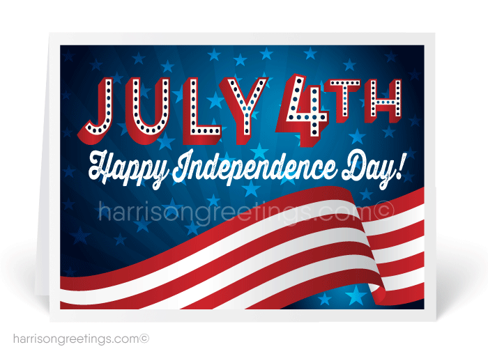 Patriotic 4th of July Greeting Cards