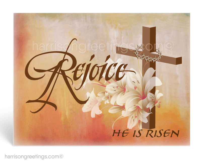 Christian Rejoice Easter Postcard