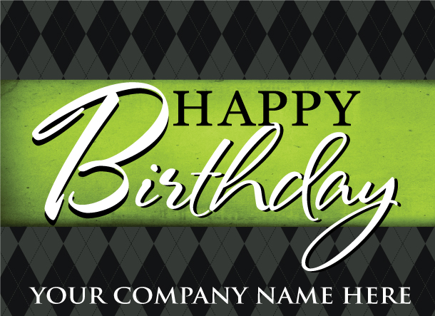Custom Happy Birthday Postcard