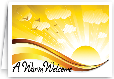 Welcome Church Visitor Card
