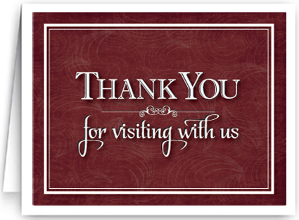Thank You For Visiting With Us